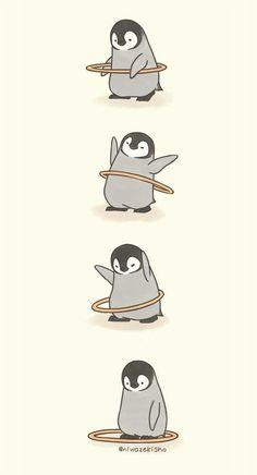 Make Gemes, 10 Cute Illustrations of Little Penguins Perform Daily Tasks Cute Disney Wallpaper, Cute Cartoon Wallpapers, Cute Wallpaper Backgrounds, Wallpaper Iphone Cute, Anime Wallpaper Phone, Drawing Wallpaper, Kawaii Wallpaper, Animal Wallpaper, Cute Comics