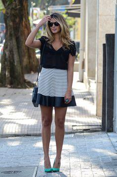 Black and White Skirt - Anna Fasano