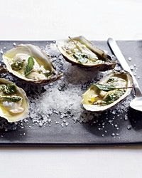 Grilled oysters, drizzled with butter flavored with sage, oregano, lemon juice and tequila.