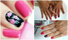 Nail art Tutorial rose romantiche - vintage ✿ (con semipermanente gelish...