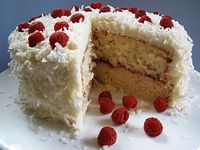 Coconut Cake with Raspberry Balsamic Filling Recipe . Sonoma Farm Coconut Cake with Raspberry Balsamic Filling RecipeRaspberry Coconut Cake Recipe. Raspberry And Coconut Cake, Raspberry Filling, Strawberry Cakes, Cake Filling Recipes, Cake Recipes, Dessert Recipes, Food Cakes, Cupcake Cakes, Cupcakes