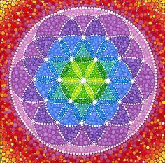 Sunny Flower of Life von Elspeth McLean