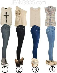 Cute skinny jeans outfits with cream tanks ♡♡