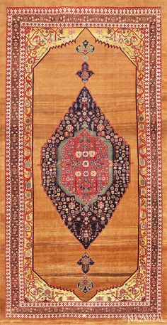 Antique Persian Bidjar Carpet 47372 Detail/Large View