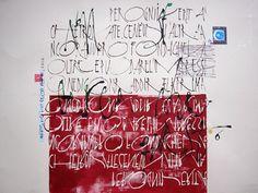 artista: Liliana La Vecchia..pannelli calligrafici per interni.