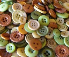 200 Forest Buttons Round Multi Sizes by AJStuff on Etsy, $5.50