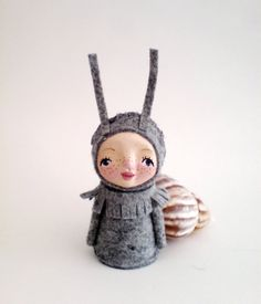 Snail Child Miniature Doll