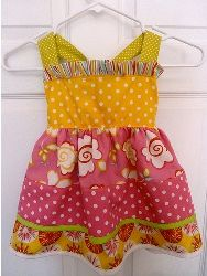 Tutorial: Little girl's sundress with criss cross tie straps