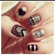 Tribal Aztec Nail Designs photo #nails #nailart