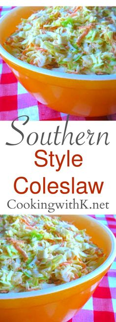 This Southern Style Coleslaw is a quick and easy side dish served up with a lot of Southern dishes, BBQ, fried chicken and catfish.  A few simple ingredients are all you need.