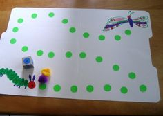 Caterpillar game for kids: Cute file folder game to make // Pre-K // Toddler // Math // DIY // The Very Hungry Caterpillar #theveryhungrycaterpillar