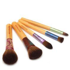 Cosmetic brush beauty makeup new environmental protection bamboo handle 5 pcs/set nylon hair brush makeup brush A4