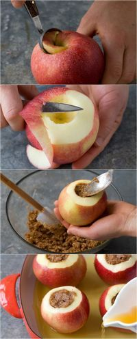 How to make the BEST baked applles. Healthy indulgence