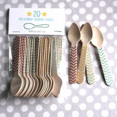 Perfect website for party stuff.  It's heavenly, and I love these spoons.