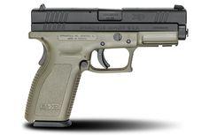 XD® 4″ Full Size Model .40SW caliber #pistol in OD Green from Springfield Armory® #firearm #handgun