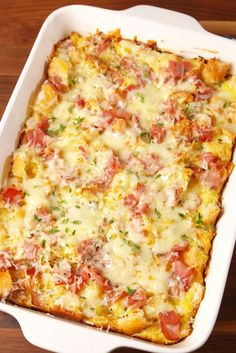 This breakfast casserole will wow your Easter crowd.  Get the recipe from Delish.