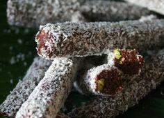 // raw pistachio & cacao rolls