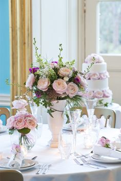 The medium-strong scent of our variety is a pleasant contrast to the 100 pale pink and cream petals of its cupped rosette shape. Whether in a petite vase or elaborate arrangement, Keira's fragrance and beauty will fill the room and delight your guests. Table Centre Pieces Wedding, Wedding Table Flowers, Rose Wedding, Wedding Table Decorations, Wedding Stuff, Cute Wedding Ideas, Perfect Wedding, Wedding Themes, Wedding Cakes