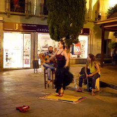 Flamenco dancer in Granada, Spain