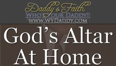 God has an Altar in his church home. But there is an incredible benefit, in making one for him at home. We explore the perspectives on having one at home. And how making an Altar for God at home can impact your life.   Article Post Link:  http://wydaddy.com/godsaltarathome/