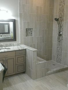 vertical mosaic tub surround - Google Search
