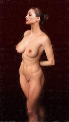 "erotiscopic: ""statuesque Daz 3d render + photo composite (Effects: Topaz DeNoise, Paint Pro 3, Topaz Glow, Topaz Impression and Photoshop) """