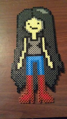 Marceline Adventure Time perler beads by TwinSisterCraft