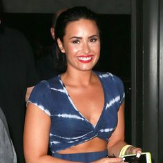 Demi Lovato Steps Out Last Night, Can't Contain Herself - http://oceanup.com/2015/07/02/demi-lovato-steps-out-last-night-cant-contain-herself/