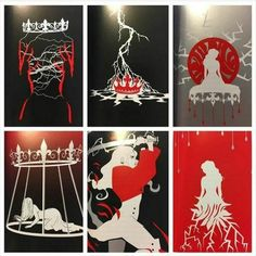 Inside the RQ collectors edition Fanart, Red Queen Book Series, Red Queen Victoria Aveyard, Glass Sword, King Cage, Geeks, Queen Drawing, Cool Books, Book Fandoms
