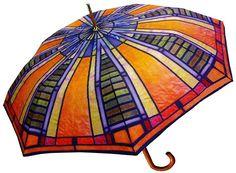 "LaSelva Designs Frank Lloyd Wright 48"" Stick Umbrella"