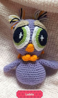 A personal favourite from my Etsy shop https://www.etsy.com/uk/listing/549933242/the-purple-crochet-owl