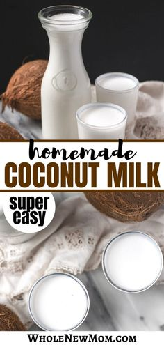 This is the Easiest Homemade Coconut Milk Recipe. No bags, no waste, and super frugal. Make Coconut Milk, Coconut Milk Recipes, Trim Healthy Mama Plan, Cocoa Cake, Easy Healthy Recipes, Free Recipes, Keto Recipes, Healthy Food, Nut Milk Bag