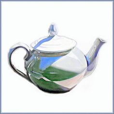 This teapot is part of a series of oil paintings Objet Desire (Objects of desire). They are all vessels from my mother and grandmother. Usually when