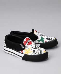 Take a look at this Black & White Tattoo Slip-On Sneaker on zulily today!