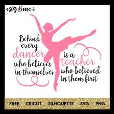 Love this sweet quote on this free svg that would make the perfect design to create a DIY gift for your child's dance teacher. Compatible with Cricut, Silhouette and other cutting machines. Don't miss the rest of our huge free svgs library! Dance Teacher Quotes, Dance Teacher Gifts, Teacher Christmas Gifts, Dance Quotes, Teacher Appreciation Gifts, Ballet Quotes, Teacher Presents, Dance Sayings, Employee Appreciation