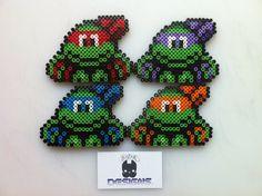 Mini Teenage Mutant Ninja Turtles Perler Bead Sprite Art by SDKD, $5.00