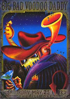 Swing Poster - Big Bad Voodoo Daddy - Fillmore