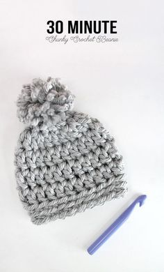 Diy Crafts Ideas : Easy Chunky Crochet Beanie a 30 minute hat! Free pattern from Persia Lou