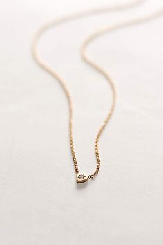 Diamond Mini Heart Necklace - #AnthroFave