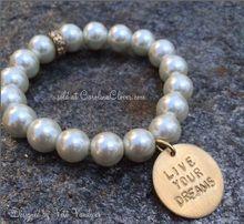 Live Your Dreams Pearl Bracelet