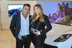 Rony Mansour and Jesika Towbin-Mansour with the Karma Revero Luxury Automotive, Automotive Design, Las Vegas Shopping, Customer Experience, Rolls Royce, Maserati, Nevada, Karma, Best Deals