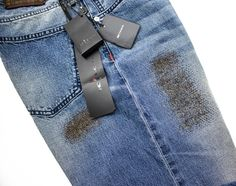 Love the distressed detailing of these Kiton buttonfly handmade blue jeans…