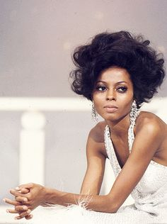 Diana Ross on the set of The Hollywood Palace, 1968