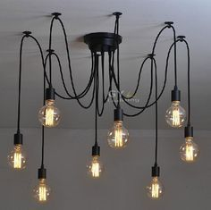 Diy Lamp Kit Chandelier Pendant Lights Ceiling Pendant Lights Spider Lamp