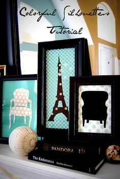 silhouettes: tutorial .... Love it! .... Try it!