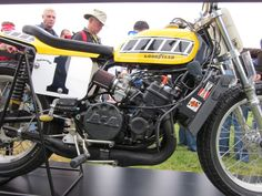 "Yamaha TZ 750 Flat Tracker. Kenny Roberts bike. The ""You can't pay me enough to ride that thing"" bike."