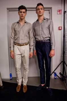 Simone Nobili backstage @ Ermenegildo Zegna Spring/Summer 2013 Milan Fashion Week (June 23, 2012 11:00)
