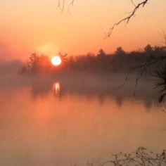Sunrise on cool October morn