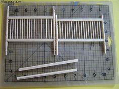 How to make a miniature bed using Toothpicks, Stair Rail, and Newel Posts, by Artisan Debra Dinges