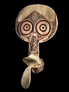 Mask (Kavat) Date: 1973 Geography: Papua New Guinea, New Britain Culture: Kairak Baining people Medium: Bamboo, barkcloth, paint
